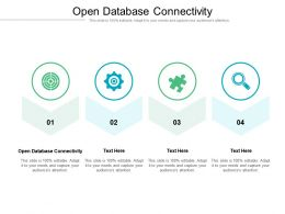 Open Database Connectivity Ppt Powerpoint Presentation Summary Introduction Cpb
