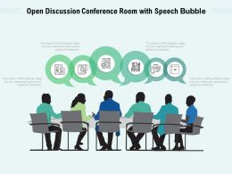 Open Discussion Conference Room With Speech Bubble