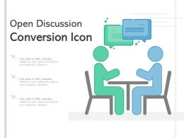 Open Discussion Conversion Icon