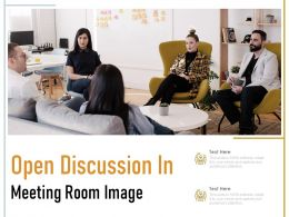 Open Discussion In Meeting Room Image