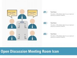 Open Discussion Meeting Room Icon