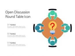 Open Discussion Round Table Icon
