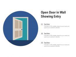 Open Door In Wall Showing Entry
