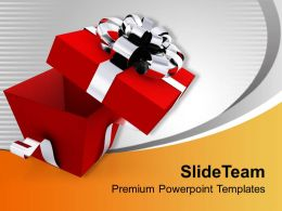 Open Elegant Gift Box PowerPoint Templates PPT Themes And Graphics 0113