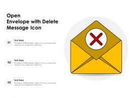 Open Envelope With Delete Message Icon