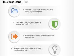 open_folder_shield_signout_lightbulb_ppt_icons_graphics_Slide01
