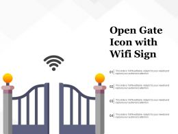 Open Gate Icon With WIFI Sign