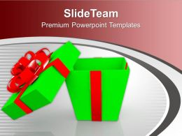 Open Gift Box Over White Background Celebration PowerPoint Templates PPT Themes And Graphics 0113