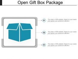 Open Gift Box Package