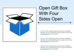Open Gift Box With Four Sides Open