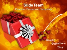 Open Gift Box With Hearts Valentines PowerPoint Templates PPT Themes And Graphics 0213