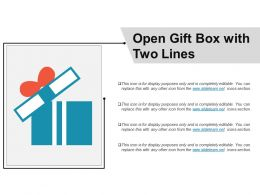 Open Gift Box With Two Lines