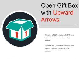 Open Gift Box With Upward Arrows