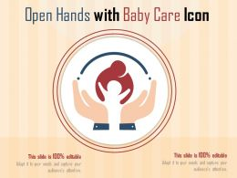 Open Hands With Baby Care Icon
