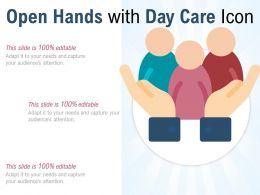 Open Hands With Day Care Icon