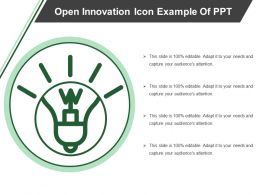 Open Innovation Icon Example Of Ppt