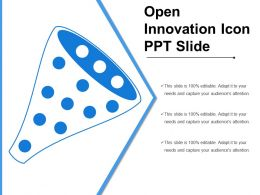 Open Innovation Icon Ppt Slide