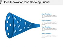 Open Innovation Icon Showing Funnel