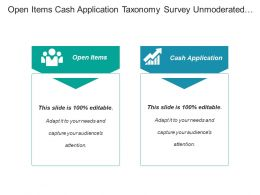 Open Items Cash Application Taxonomy Survey Unmoderated Study