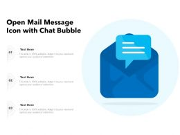 Open Mail Message Icon With Chat Bubble
