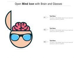 Open Mind Icon With Brain And Glasses