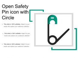 Open Safety Pin Icon With Circle