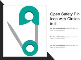 Open Safety Pin Icon With Circles In It