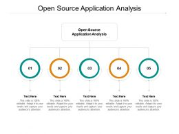 Open Source Application Analysis Ppt Powerpoint Presentation Ideas Layout Cpb