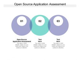 Open Source Application Assessment Ppt Powerpoint Presentation File Pictures Cpb