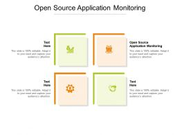 Open Source Application Monitoring Ppt Powerpoint Presentation Gallery Rules Cpb