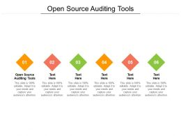 Open Source Auditing Tools Ppt Powerpoint Presentation Portfolio Slides Cpb
