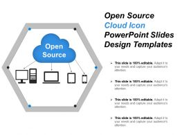 Open Source Cloud Icon Powerpoint Slides Design Templates