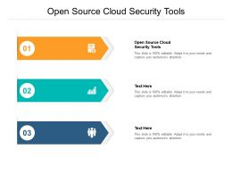 Open Source Cloud Security Tools Ppt Powerpoint Presentation Portfolio Examples Cpb
