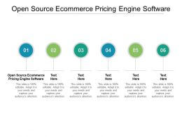 Open Source Ecommerce Pricing Engine Software Ppt Powerpoint Presentation Inspiration Grid Cpb