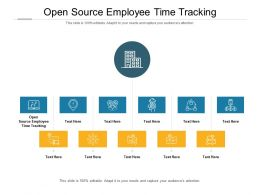 Open Source Employee Time Tracking Ppt Powerpoint Presentation Slides Grid Cpb