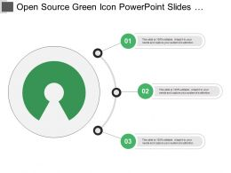 Open Source Green Icon Powerpoint Slides Designs Download