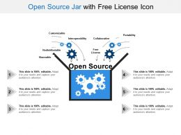 Open Source Jar With Free License Icon