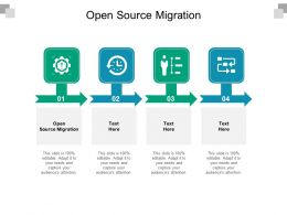 Open Source Migration Ppt Powerpoint Presentation Slides Topics Cpb