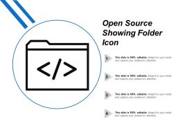 Open Source Showing Folder Icon