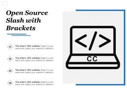 Open Source Slash With Brackets