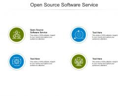Open Source Software Service Ppt Powerpoint Presentation File Example Cpb
