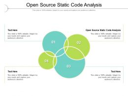 Open Source Static Code Analysis Ppt Powerpoint Presentation File Pictures Cpb
