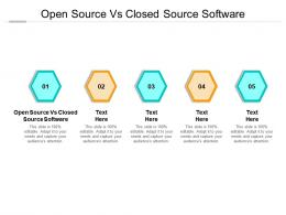 Open Source Vs Closed Source Software Ppt Powerpoint Presentation Infographics Infographics Cpb