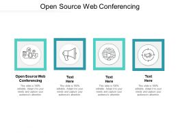 Open Source Web Conferencing Ppt Powerpoint Presentation Show Cpb