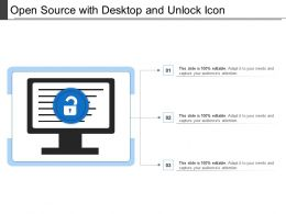 Open Source With Desktop And Unlock Icon
