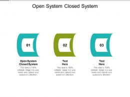 Open System Closed System Ppt Powerpoint Presentation Styles Designs Download Cpb