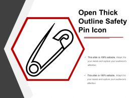 Open Thick Outline Safety Pin Icon