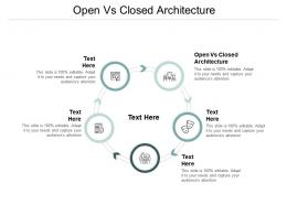 Open Vs Closed Architecture Ppt Powerpoint Presentation Layouts Icon Cpb