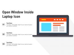 Open Window Inside Laptop Icon
