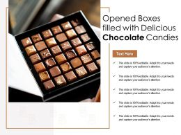 Opened Boxes Filled With Delicious Chocolate Candies